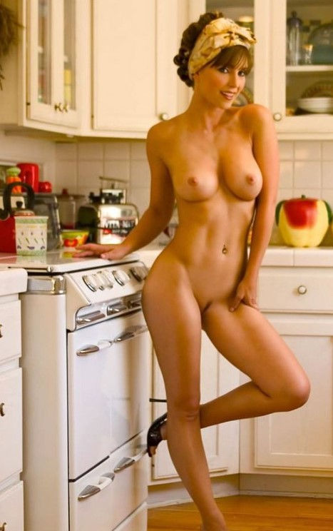 Hot wife kitchen