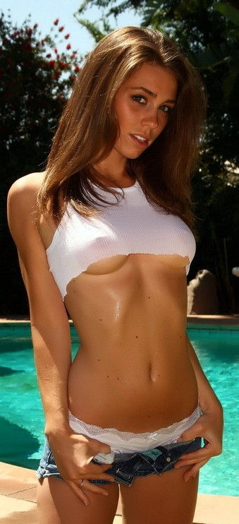 cutie by the pool