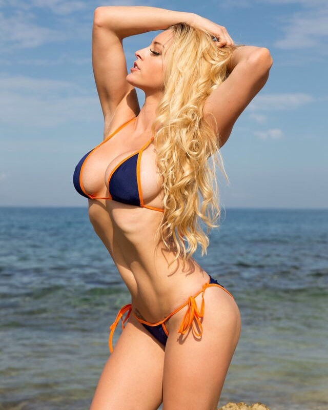 Hot blonde with awesome curves..