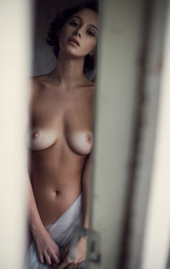 looking sensual..