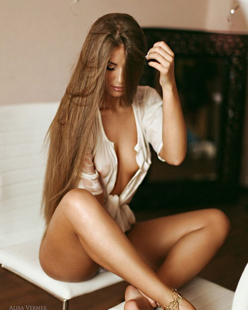 Beautiful long hair..perfect body..