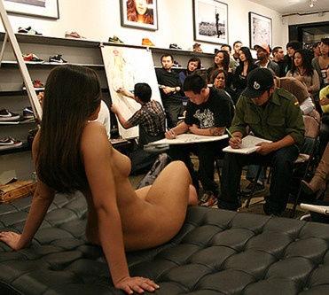 Nude art model..