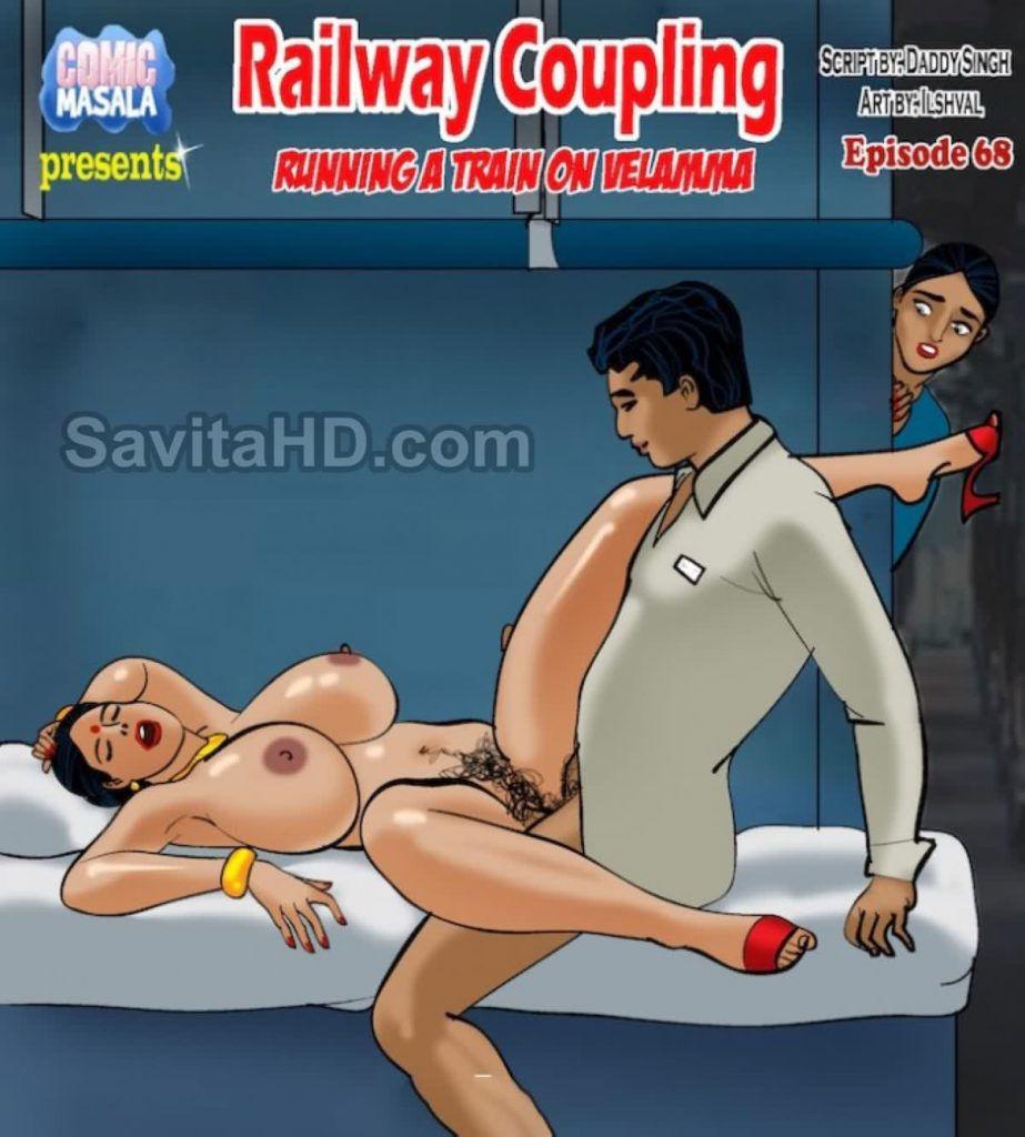 Velamma Episode 68 – Railway Coupling – Kirtu Comics