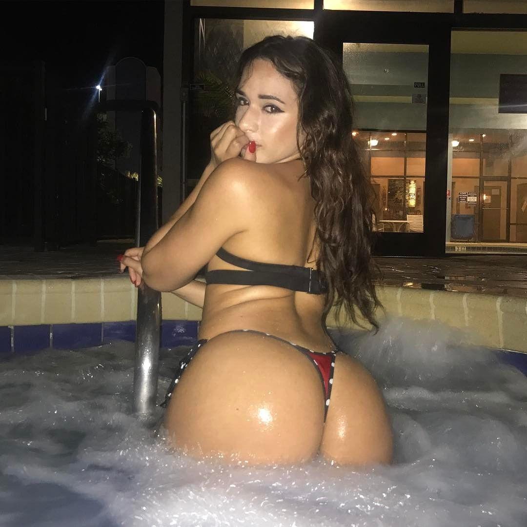 Bubble bath for a bubble butt..