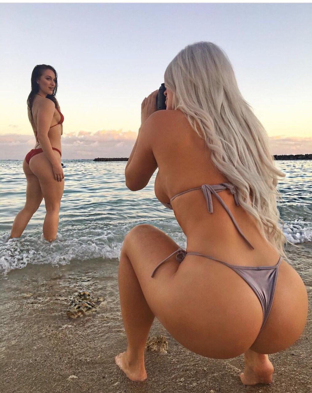 Pair of beach hotties..