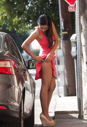 Adorable young amateur babe Vijaya Singh spreading her legs outdoors Play Slideshow