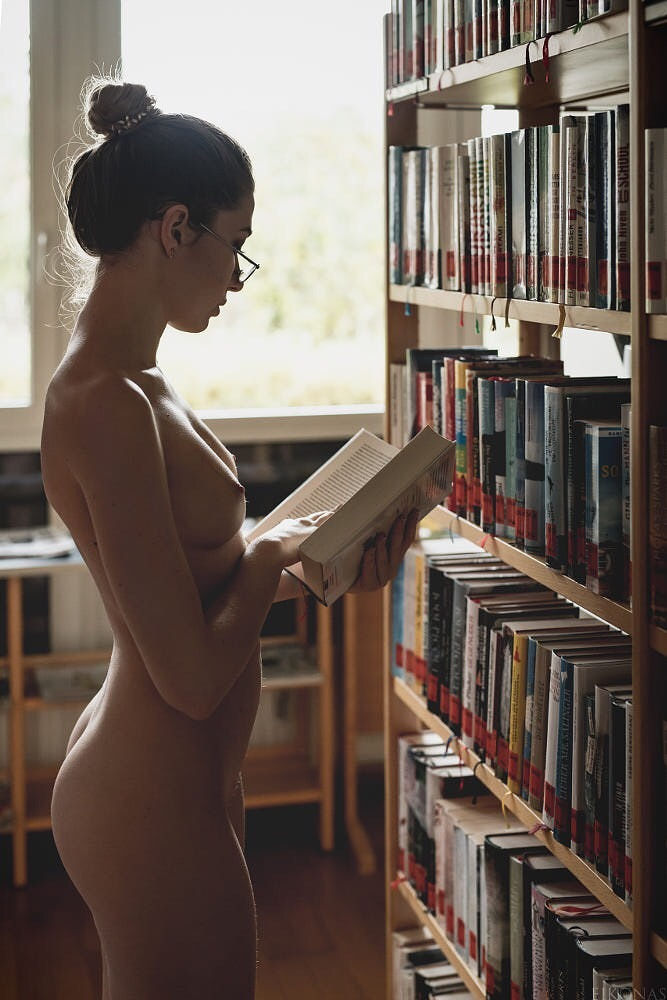 Cute librarian being fucked in library
