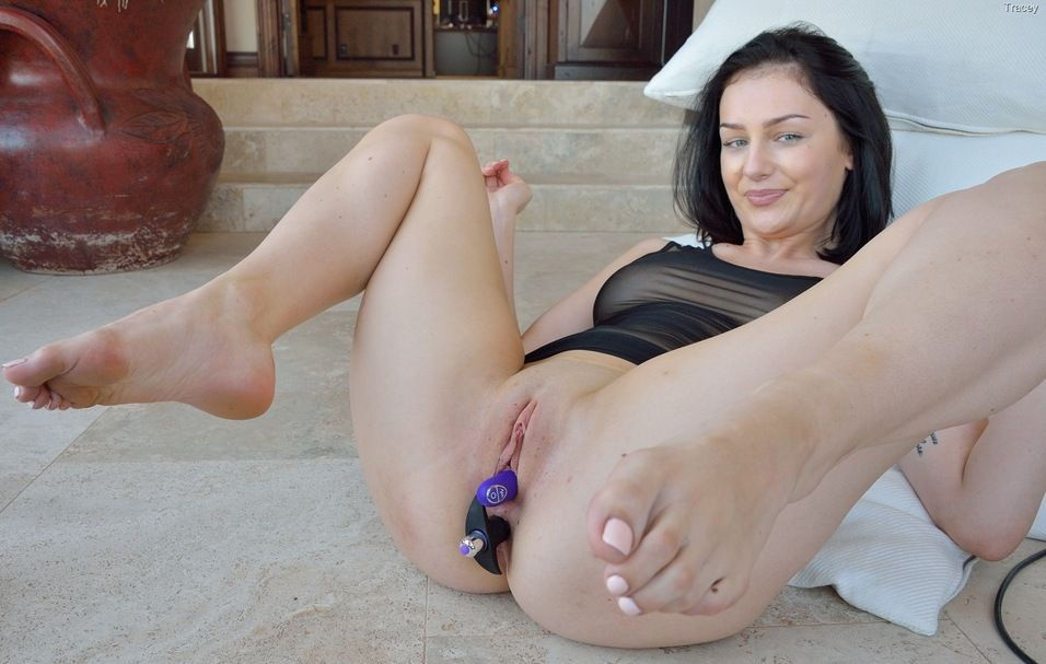 Tracy loves anal toys