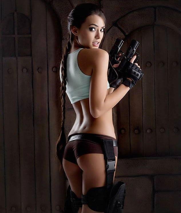 Joanie Brosas as Lara Croft