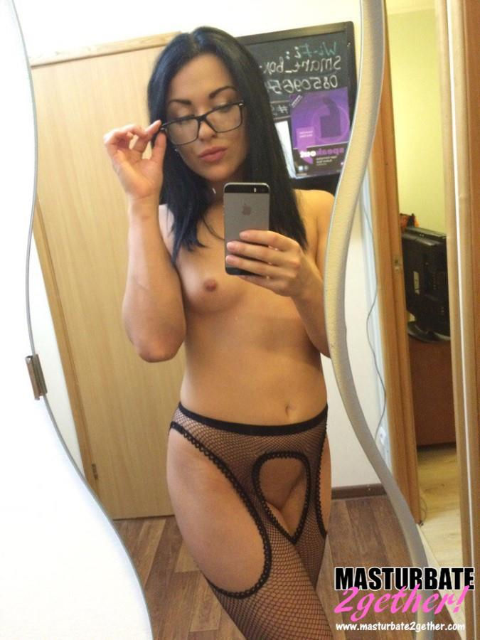 Young milf in pantyhose wants you to jerk off at Masturbate2Gether.com