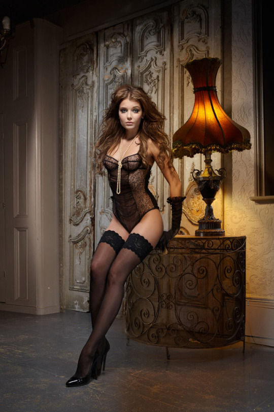Heels and stockings