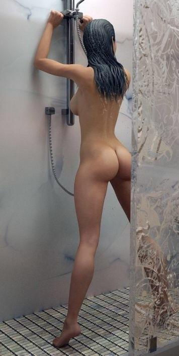 wouldn't mind sharing a shower with her…not at all..