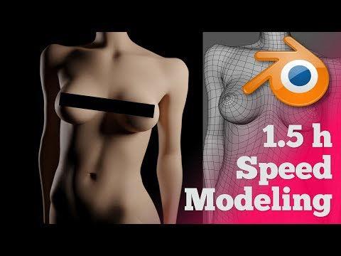 3D Modeling and Rendering a Girl Bust in 1,5 h in Blender (Timelapse) – YouTube