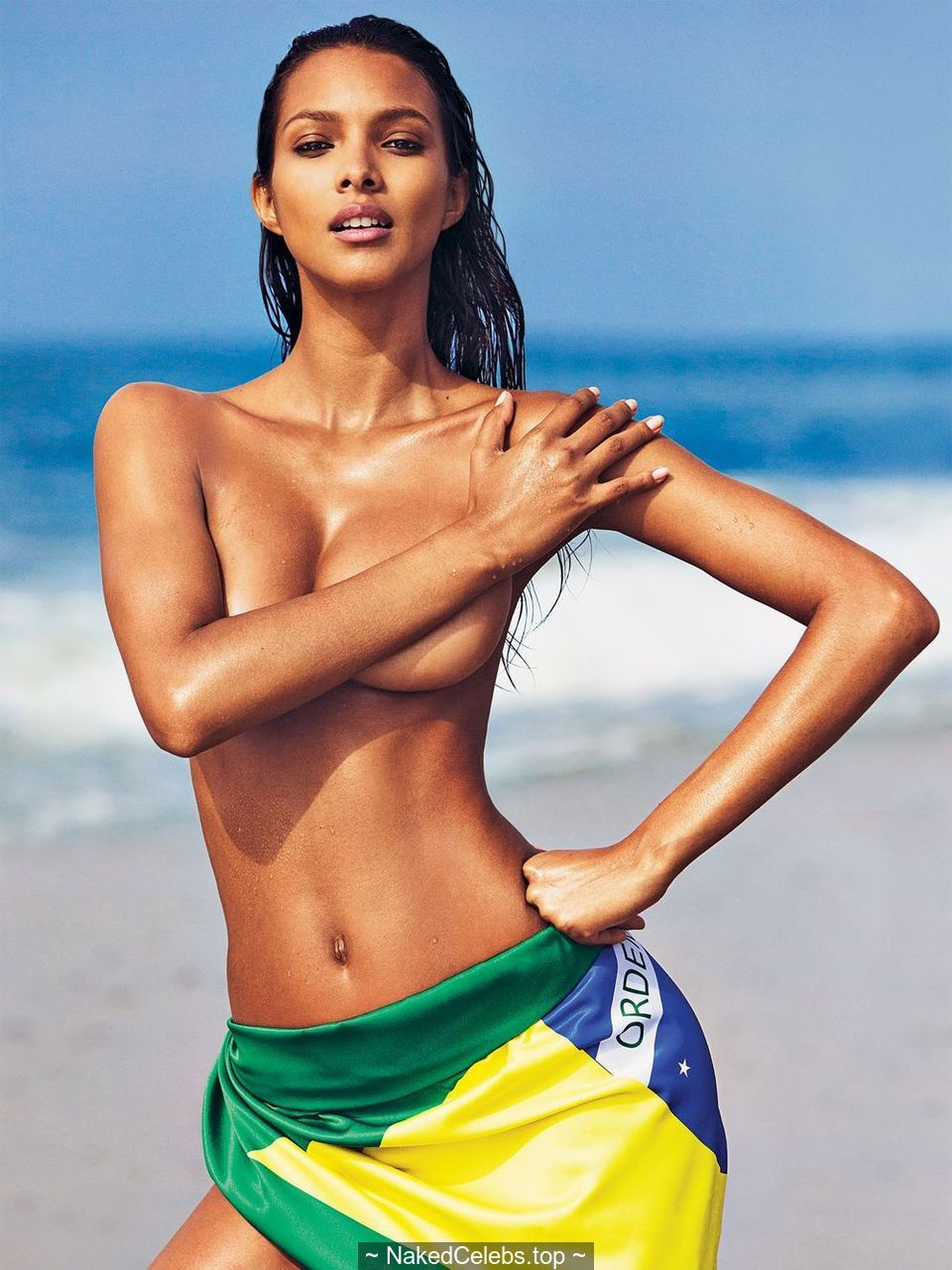 Lais Ribeiro sexy, topless & naked for GQ Mexico