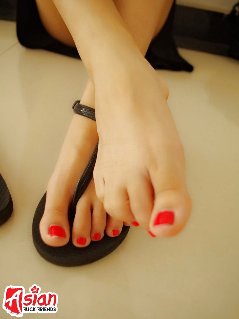 Cute Asian feet