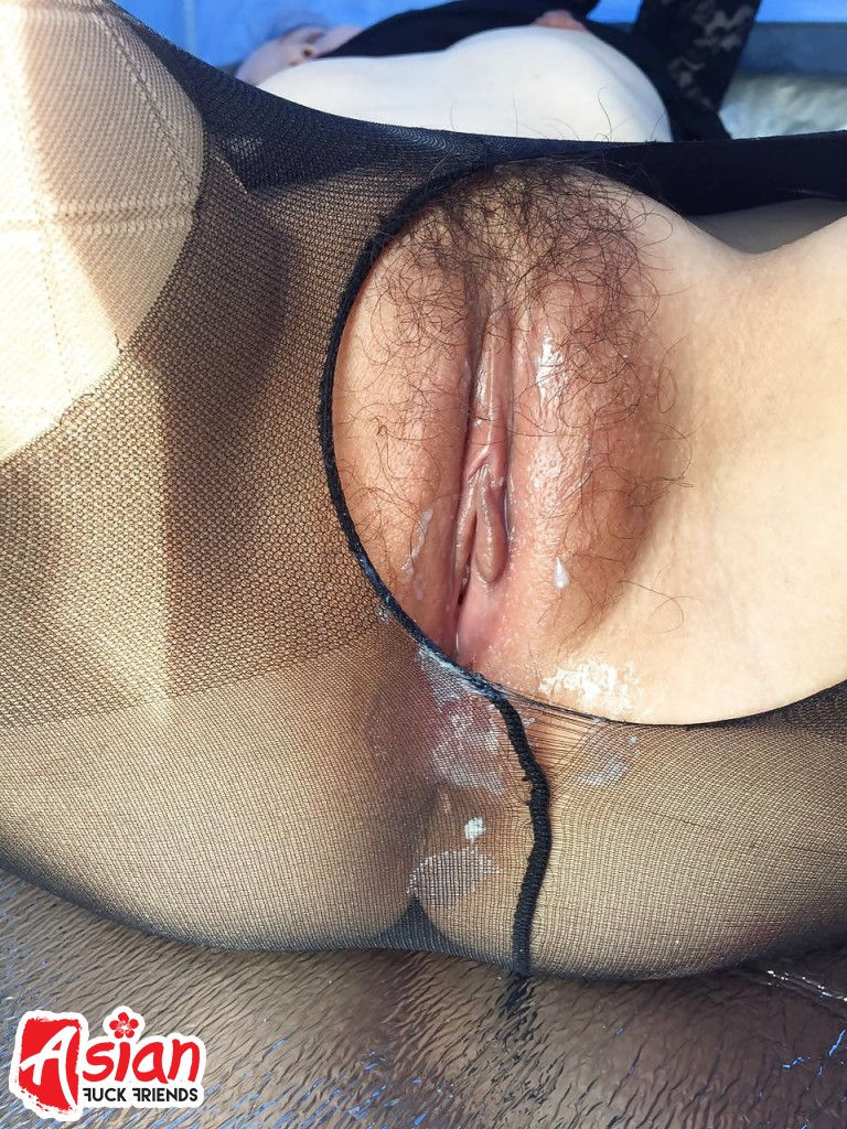 Hairy Asian Pussy Close-up
