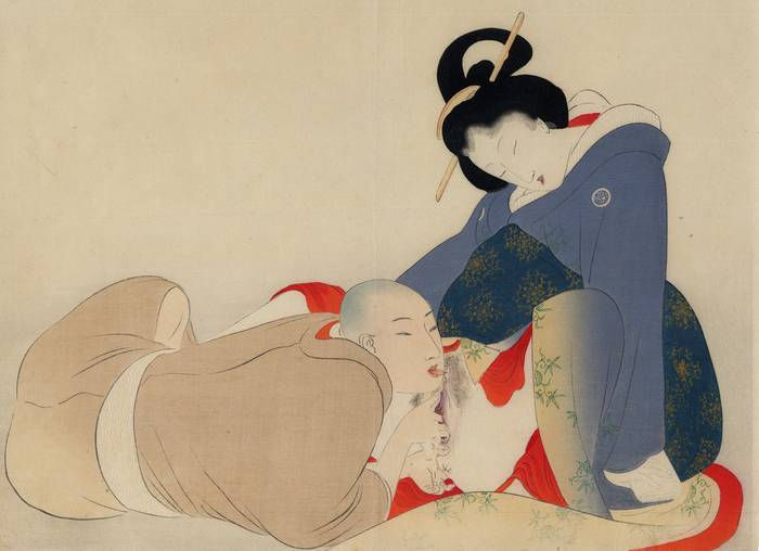 Japanese Shunga Artists Exploring the Art of Oral Sex | Shunga Gallery