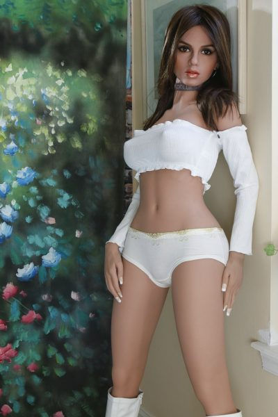White Bra Tank Skin Real Life Sex Doll – YL 155cm D-Cup Dolores – LoveDoll