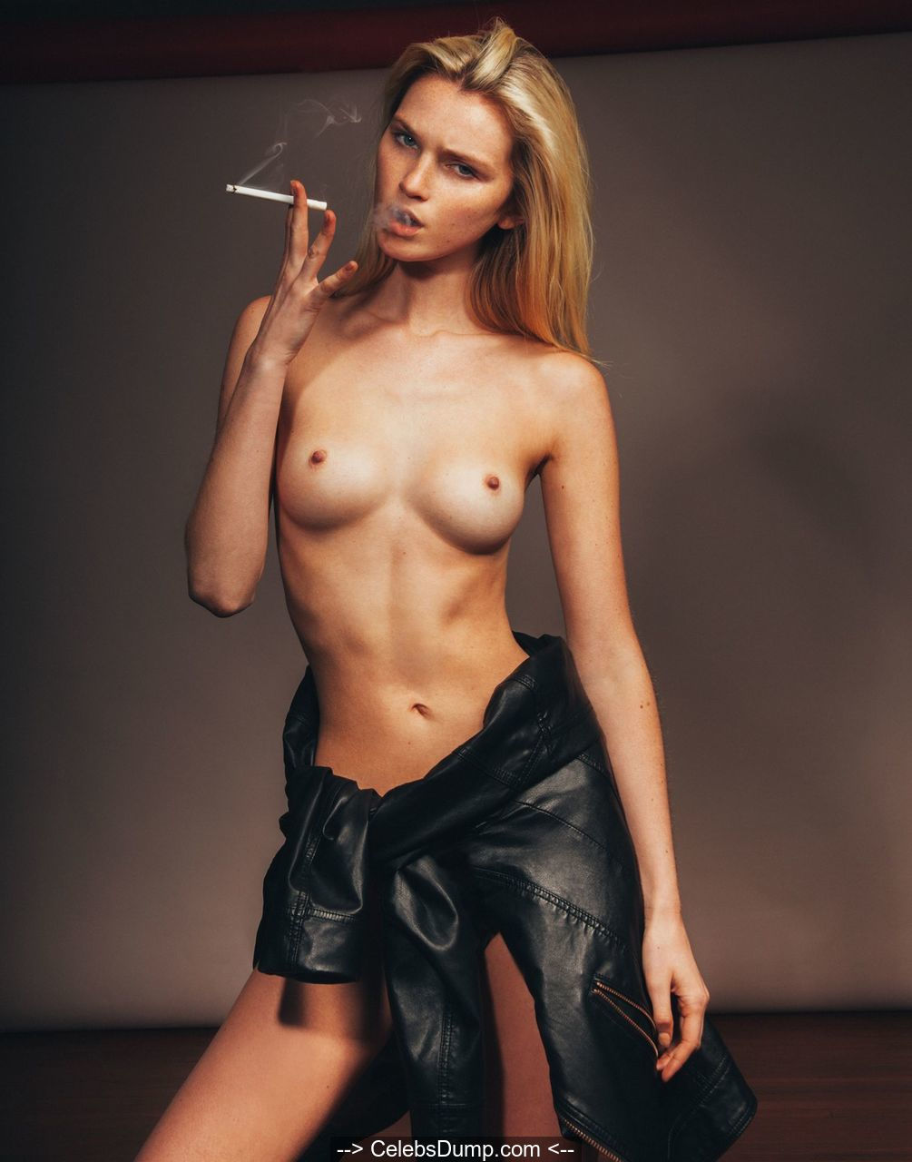 Alexa Reynen smoking topless