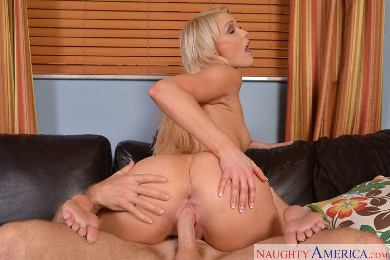 My Sister's Hot Friend featuring Blonde pornstar Zoey Paige fucking in the couch with her  ...