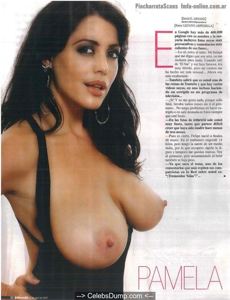 Bysty Pamela David topless in Interviu Magazine