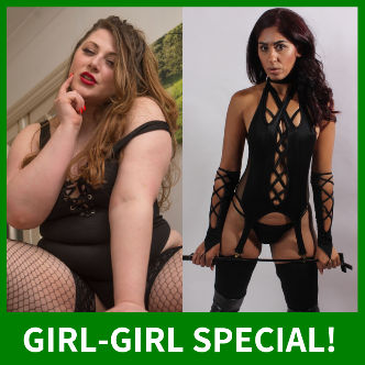 Join Estella and Sahara Knight for a girl-on-girl webcam show on Babestation Cams!