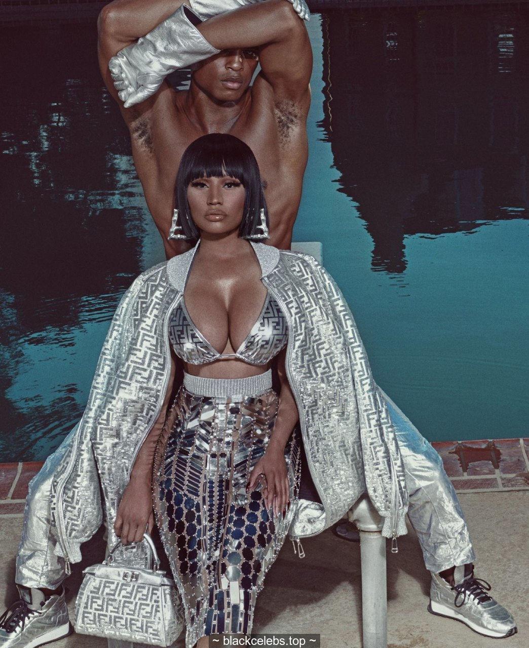 Nicki Minaj sexy for Elle magazine, US – October 2019