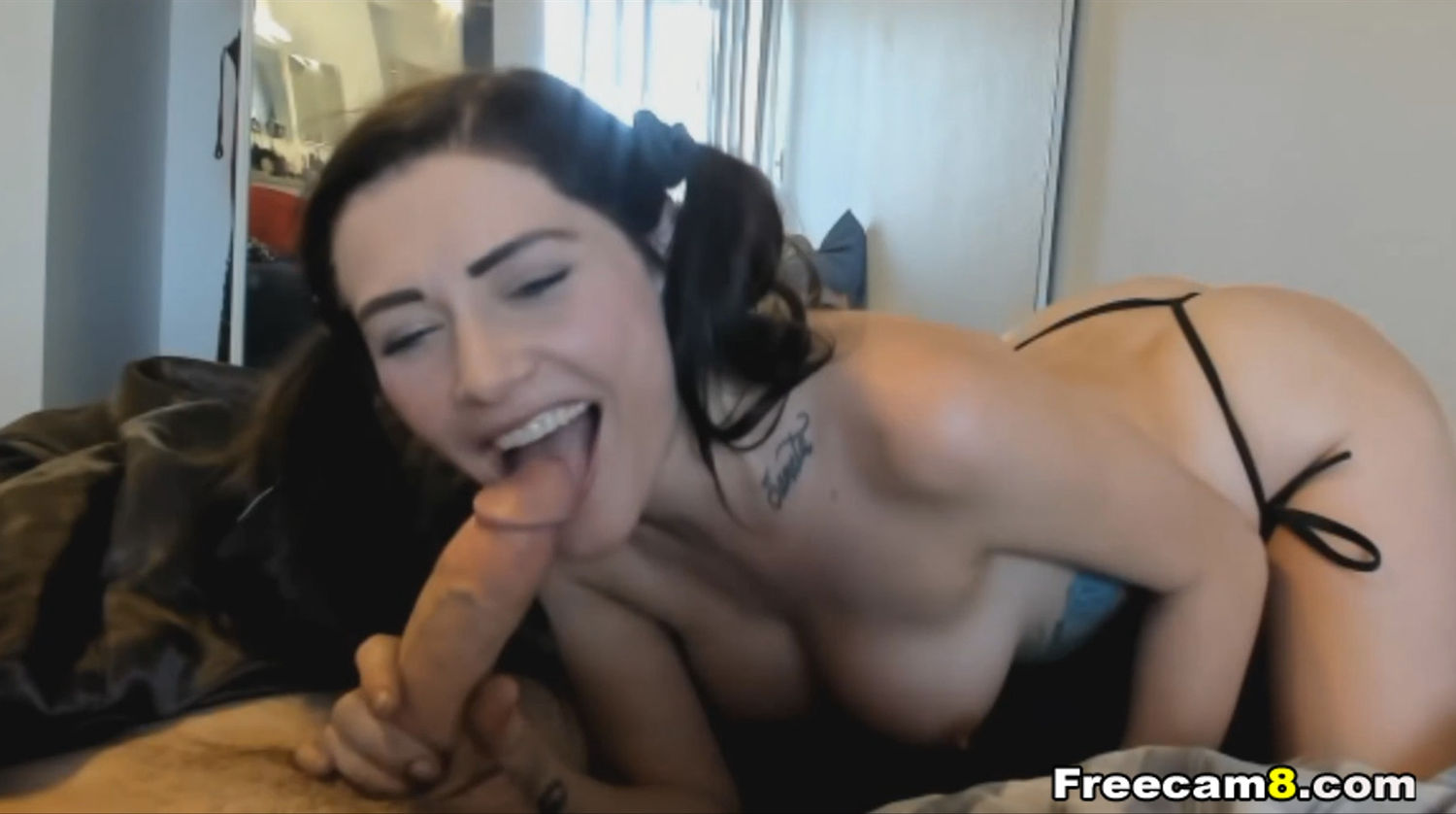 Big Tittied Babe Gives a Wet and Sloppy Blowjob