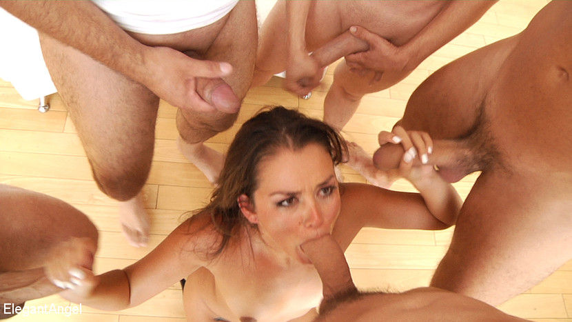 foot fetish sex model and gangbang pornstar Allie Haze gets facial cumshots