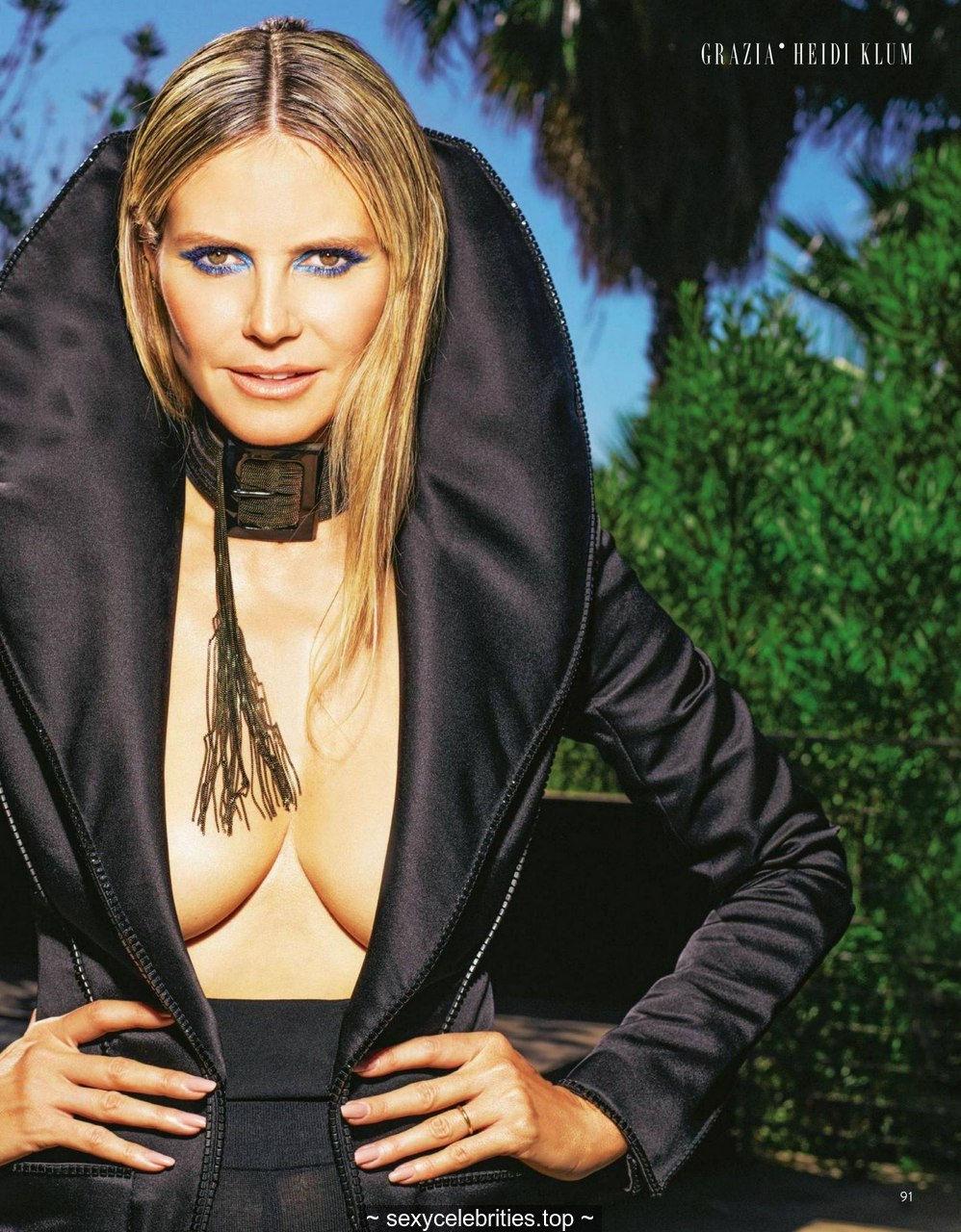 Heidi Klum sexy for Grazia magazine, Italia