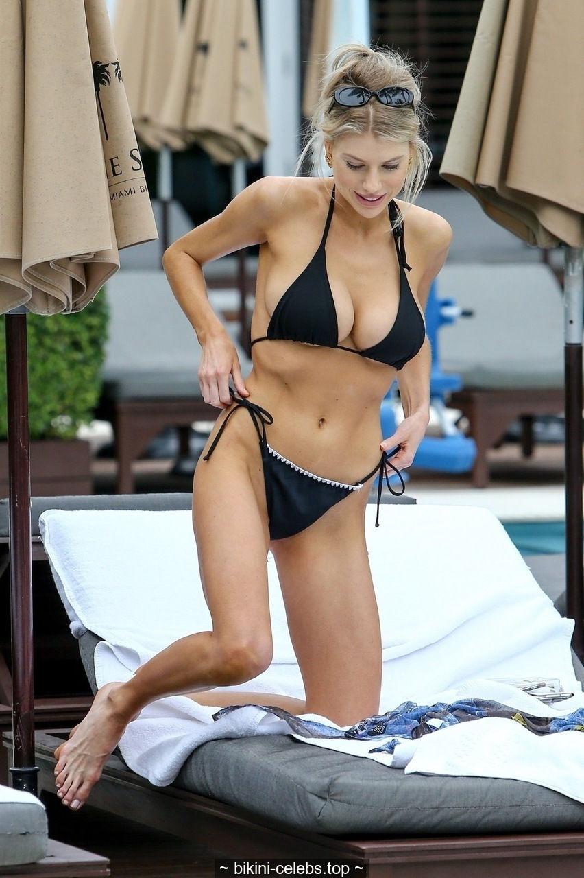 Busty Charlotte McKinney in a bikini in Miami
