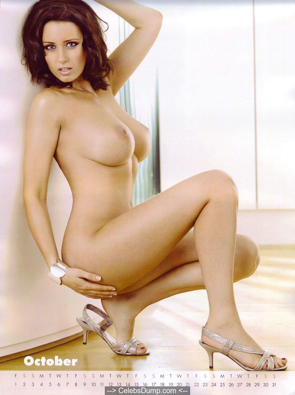 English glamour model Sammy Braddy naked calendar shoots