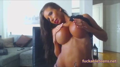 Huge silicone tits on fire!