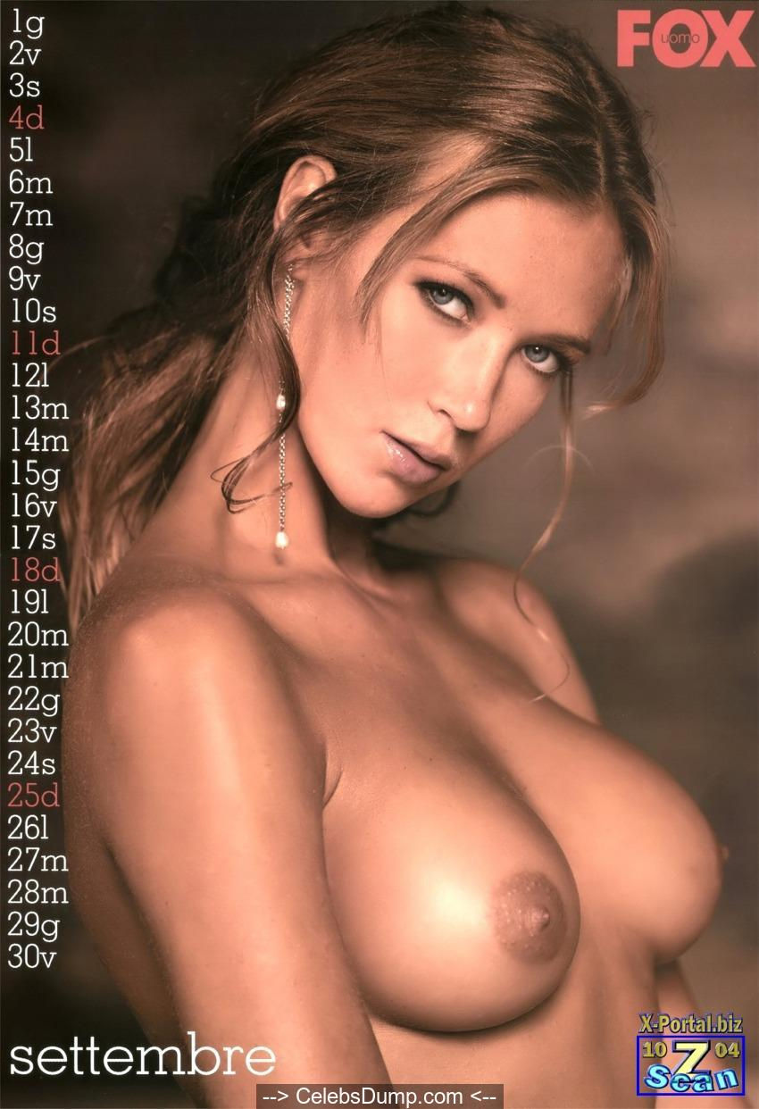 Ludmilla Radchenko naked for 2005 Fox calendar