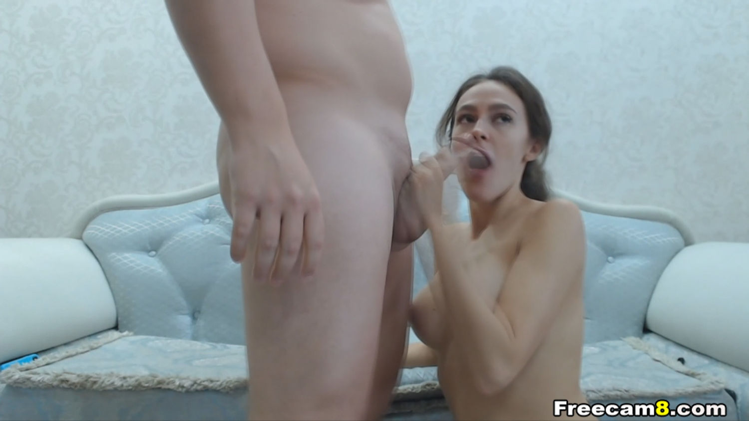 Pretty Brunette is a Great Cock Sucker