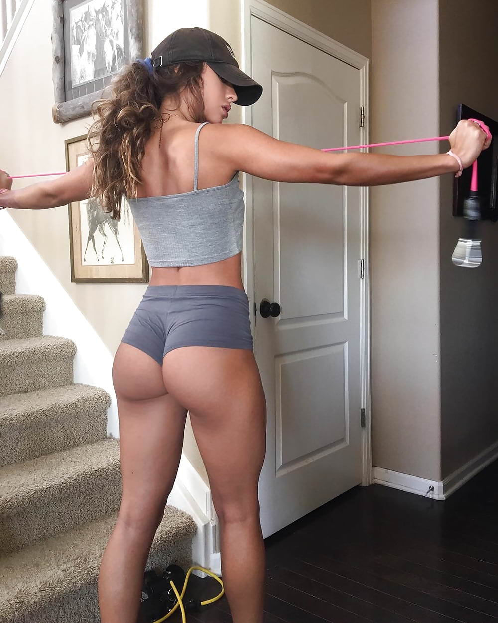 Tight shorts sexy ass view