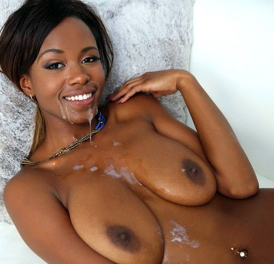 Black girl cum facial