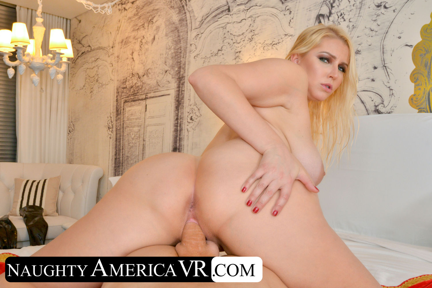 Busty blonde pornstar Vanessa Cage free sex photos and VR porn video
