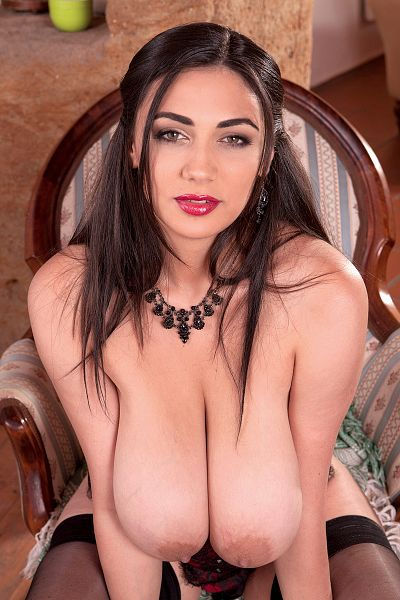 Busty Romanian brunette pornstar with huge boobs Alexya Scoreland profile and porn video collection