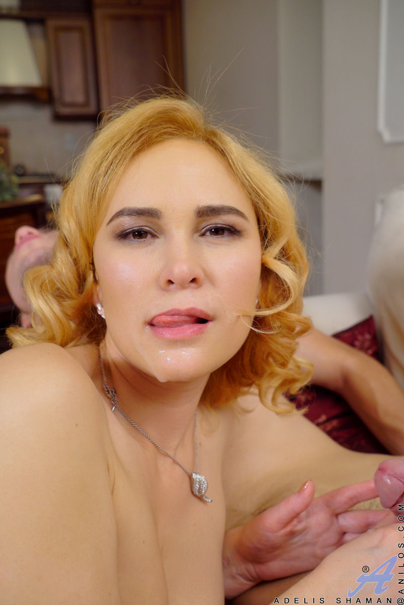 Milf pornstar Adelis Shaman gets facial cumshot from a big dick in Hardcore sex gallery