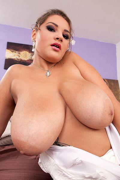 Russian brunette BBW pornstar with huge tits Daria in her Scoreland sex photoset and porn video  ...
