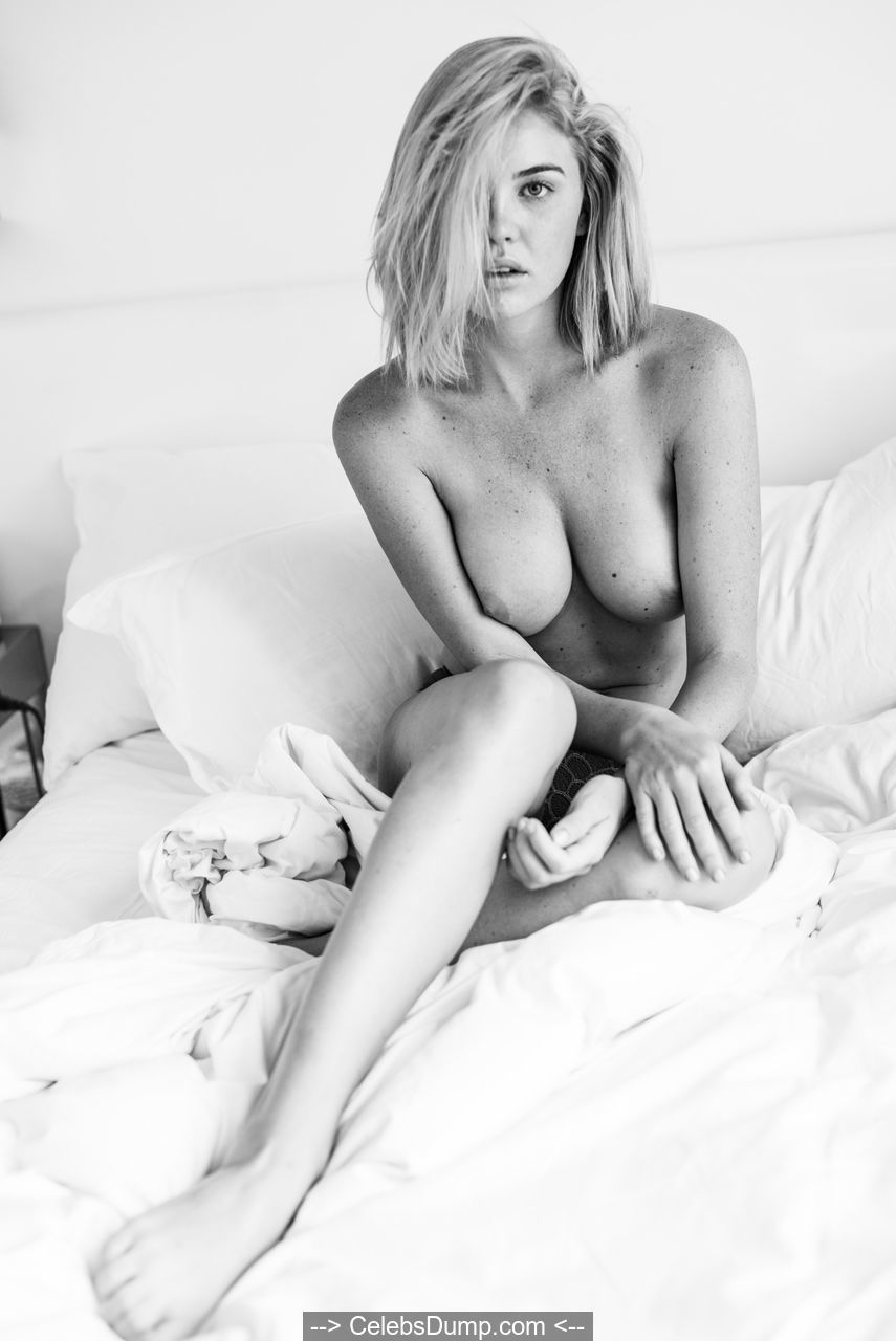 Kayslee Collins topless on a bed