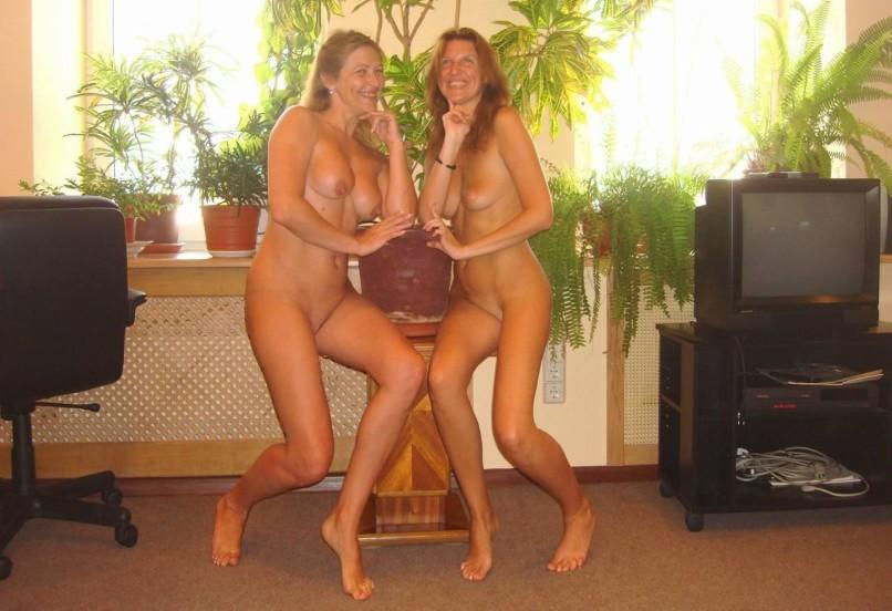 Two nude milfs babes