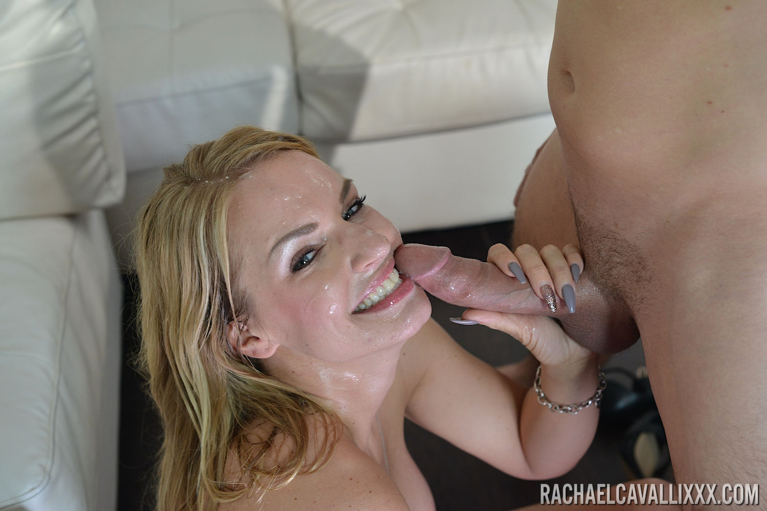 Busty milf pornstar Rachael Cavalli with big tits gives blowjob and gets cumshot in free Pornsta ...