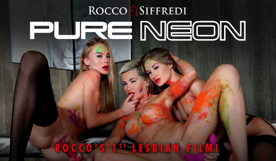 Pure Neon Rocco Siffredi first lesbian video with the hottest teen and milf pornstars full with  ...