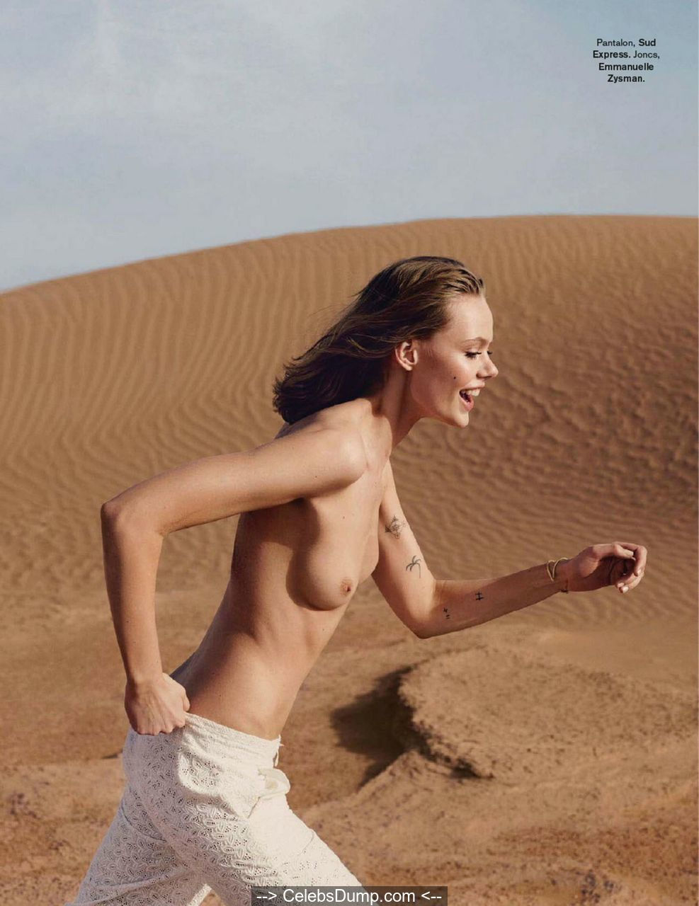 Frida Gustavsson topless for Glamour Magazine, France