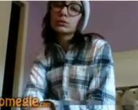 Omegle teen with glasses
