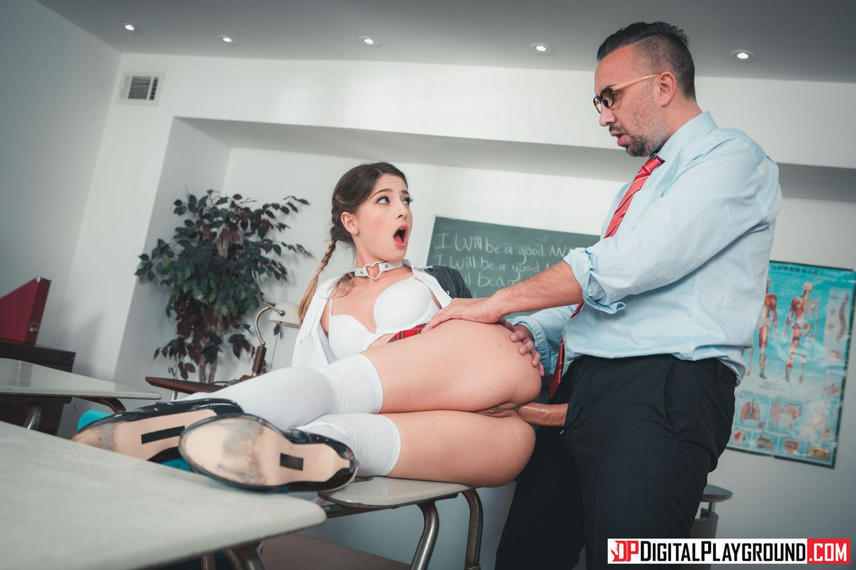 teacher impales a sweet .young ass.