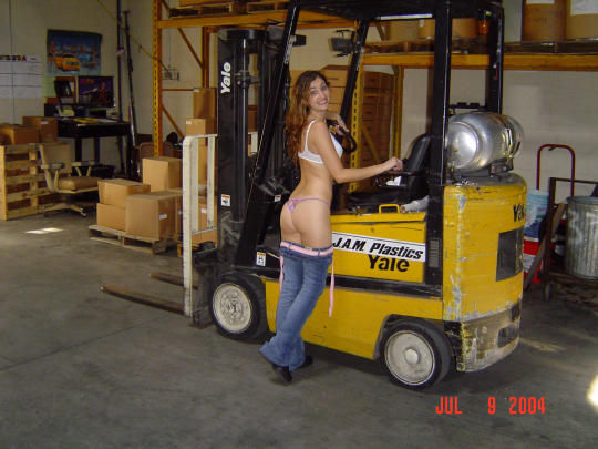 I never really thought about loading docks as being sexy locations until I saw this picture…