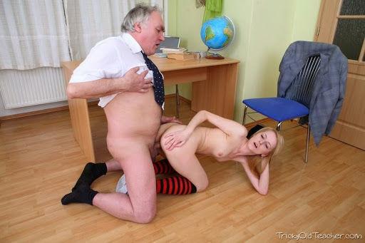 Teacher demonstrates positions